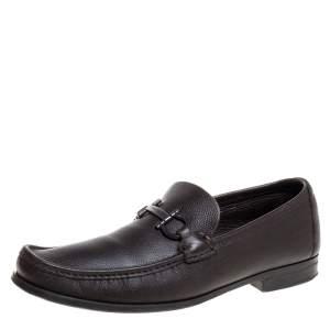 Salvatore Ferragamo Brown Leather Tazio Loafers Size 44