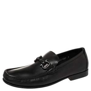 حذاء لوفرز سالفاتوري فيراغامو باريغي جلد أسود مقاس 40