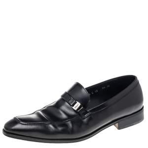 Salvatore Ferragamo Black Leather Mattia Loafers Size 43.5