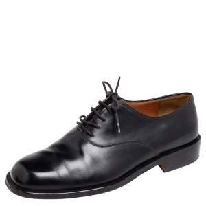 Salvatore Ferragamo Black Leather Lace Up Oxford Size 42.5