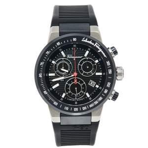 ساعة يد رجالية سالفاتوري فيراغامو F-55 SFDL00118 سيراميك و تيتانيوم سوداء 44 مم