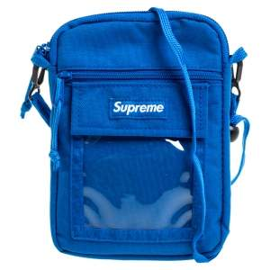 Supreme Blue Nylon Utility Bag