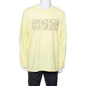 Supreme Yellow Cotton Supreme City Embroidered Long Sleeve T-Shirt XL