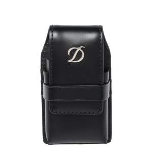S.T. Dupont Black Leather Line D Lighter Case