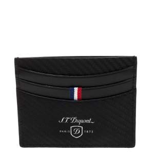 S.T. Dupont Black Leather Defi Card Holder