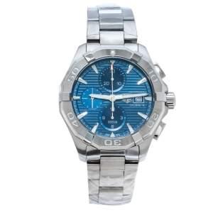 "ساعة يد رجالية تاغ هيوير ""اكواريسير سي ايه واي211بي. بي ايه0927"" ستانلس ستيل زرقاء 43 مم"