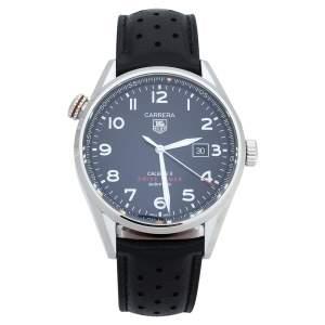 ساعة يد رجالية تاغ هوير كاريرا دريف تايم WAR2A10.FC6337 ستانلس ستيل سوداء 43 مم