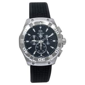 ساعة يد رجالية تاغ هوير أكواريسر CAY1110.FT6041 ستانلس ستيل سوداء 43 مم