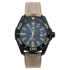 ساعة يد رجالية تاغ هوير أكواريسر WAY208C.FC8383 تيتانيوم سوداء  43 مم
