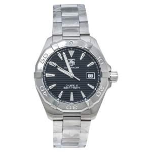 ساعة يد رجالية تاغ هيوير اكواريسر دبليو أيه واي2112.بي أيه0928 ستانلس ستيل سوداء 41 مم