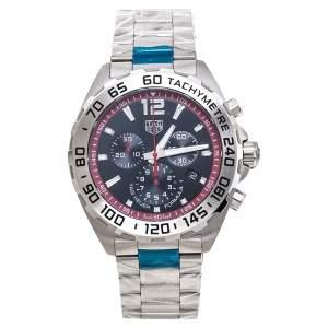 ساعة يد رجالية تاغ هيوير فورمولا 1 سي أيه زد10واي.بي أيه0842 ستانلس ستيل سوداء 43 مم