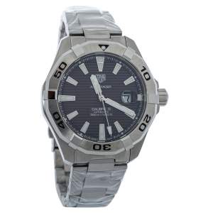 Tag Heuer Brown Brushed Stainless Steel Aquaracer WAY2018 Automatic Men's Wristwatch 43MM