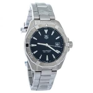 Tag Heuer Black Stainless Steel Aquaracer WAY1110 Quartz Men's Wristwatch 41MM
