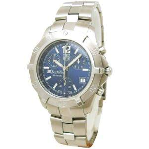 Tag Heuer Blue Stainless Steel Exclusive Seychelles Chronograph Men's Wristwatch 38MM