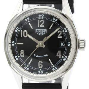 Tag Heuer Black Stainless Steel Carrera WS2111 Men's Wristwatch 36 MM