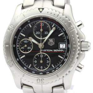 Tag Heuer Black Stainless Steel Link Ayrton Ct2114 Men's Wristwatch 42MM