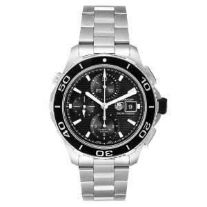ساعة يد رجالية تاغ هيوير أكوا ريسر CAK2110  ستانلس ستيل سوداء 43 مم