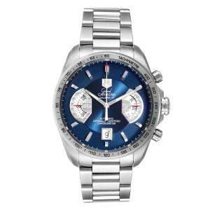 ساعة يد رجالية تاغ هيوير غراند كاريرا CAV511F ستانلس ستيل زرقاء 43 مم