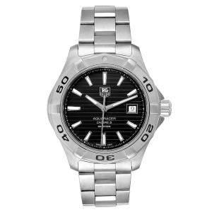 ساعة يد رجالية تاغ هيوير اكواريسر دبليو ايه واي2110 ستانلس ستيل سوداء 40.5مم