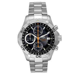 Tag Heuer Black Stainelss Steel Aquaracer Chronograph CAF2113 Men's Wristwatch 41 MM
