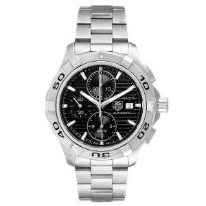 Tag Heuer Black Stainless Steel Aquaracer CAP2110 Men's Wristwatch 44 MM