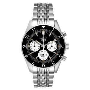Tag Heuer Black Stainless Steel Autavia Heritage Calibre Heuer 02 CBE2110 Men's Wristwatch 42 MM