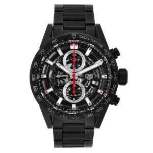 Tag Heuer Black Ceramic Carrera Calibre 01 CAR2090 Men's Wristwatch 43 MM