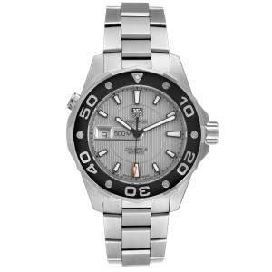 Tag Heuer Gray Stainless Steel Aquaracer 2000 WAJ2111 Men's Wristwatch 43 MM