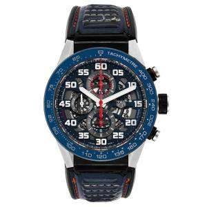 Tag Heuer Blue Stainless Steel Carrera Red Bull Racing CAR2A1N Men's Wristwatch 45 MM