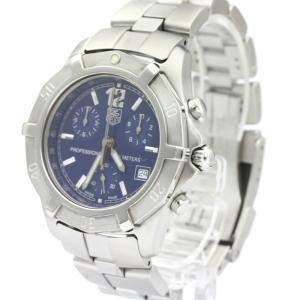 Tag Heuer Blue Stainless Steel 2000 Exclusive Chronograph CN1112 Quartz Men's Wristwatch 38 MM