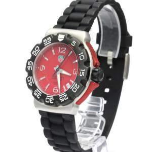 Tag Heuer Red Stainless Steel Formula 1 Quartz WAC1113 Men's Wristwatch 41 MM