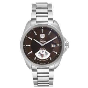 ساعة يد رجالية تاغ هيوير كاريرا WAV511C  ستانلس ستيل أوتوماتيك بنية 40 مم