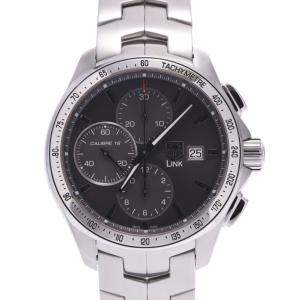Tag Heuer Black Stainless Steel Link Chrono CAT2017 Men's Wristwatch 42 MM