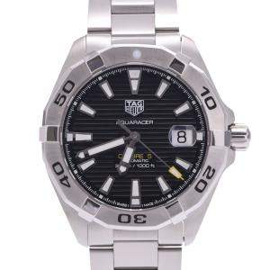 Tag Heuer Black Stainless Steel Aquaracer WBD21110 Men's Wristwatch 41 MM