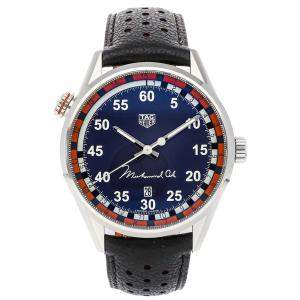 Tag Heuer Blue Stainless Steel Carrera Calibre 5 Muhammad Ali Special Edition WAR2A11.FC6337 Men's Wristwatch 43 MM