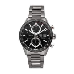 ساعة يد رجالية تاغ هيوير كاريرا كاليبر 16 كرونوغراف CBM2110.BA0651 ستانلس ستيل سوداء 41 مم