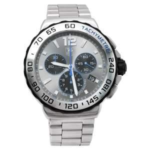 """ساعة يد رجالية تاغ هيوير """"فورمولا 1 سي ايه يو1119.بي ايه0858"""" ستانلس ستيل رصاصية 42 مم"""