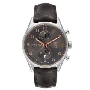 """ساعة يد رجالية تاغ هيوير """"كاريرا كرونوغراف سي بي إن2ايه10.بي ايه0643"""" ستانلس ستيل خضراء 44 مم"""