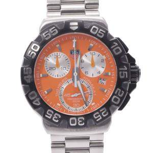 Tag Heuer Orange Stainless Steel Formula 1 Chronograph CAH1113 Men's Wristwatch 41 MM