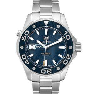 Tag Heuer Blue Stainless Steel Aquaracer WAJ2112 Men's Wristwatch 43 MM