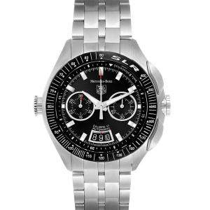 Tag Heuer Black Stainless Steel Mercedez Benz SLR LE Chronograph CAG2111 Men's Wristwatch 45 MM