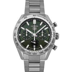 Tag Heuer Green Stainless Steel Carrera Chronograph CBN2A10.BA0643 Men's Wristwatch 44 MM