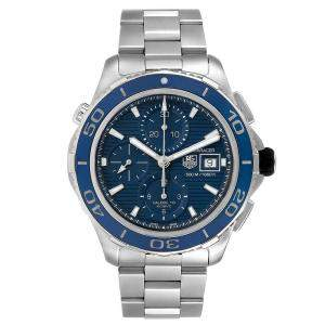 Tag Heuer Blue Stainless Steel Aquaracer CAK2112 Men's Wristwatch 43 MM