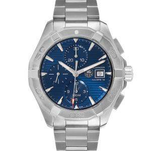 Tag Heuer Blue Stainless Steel Aquaracer CAY2112 Men's Wristwatch 43 MM