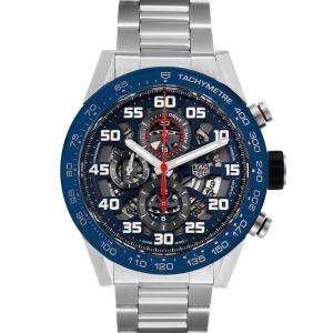 Tag Heuer Blue Stainless Steel Carrera Red Bull Racing CAR2A1K Men's Wristwatch 45 MM