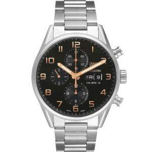 Tag Heuer Black Stainless Steel Carrera Calibre 16 Chronograph CV2A1AB Men's Wristwatch 43 MM