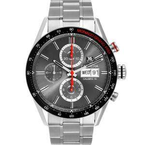 Tag Heuer Grey Stainless Steel Carrera Monaco Grand Prix Chronograph CV2A1M Men's Wristwatch 43MM