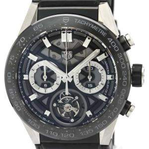 Tag Heuer Black Ceramic Carrera Automatic CAR5A8Y Men's Wristwatch 45 MM