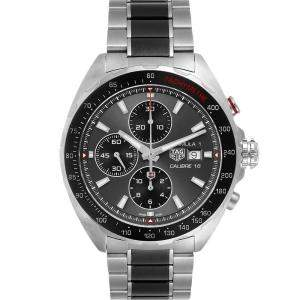 Tag Heuer Grey Stainless Steel Formula 1 Calibre16 Chronograph CAZ2012 Men's Wristwatch 44 MM