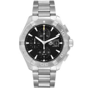 Tag Heuer Black Stainless Steel Aquaracer CAY2110 Men's Wristwatch 43 MM